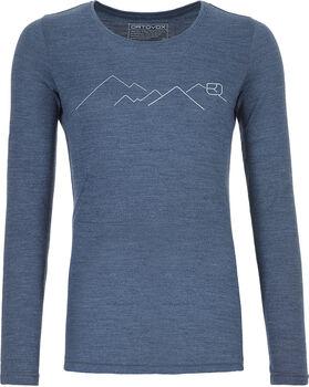 ORTOVOX 185 Merino Mountain Langarmshirt Damen blau