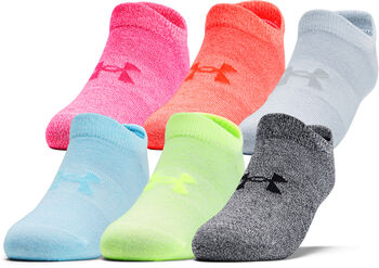 Under Armour Essentials No Show 6er-Pack Sneakersocken Damen pink
