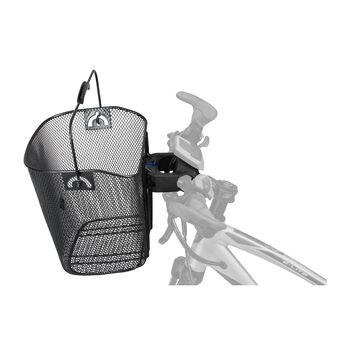 Löhr Set  Draht-Lenkerkorb-Adapter schwarz