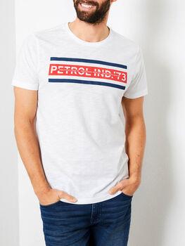 Petrol SS R-Neck T-Shirt Herren weiß