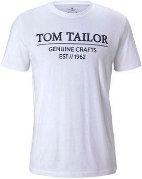 TOM TAILOR With Print T-Shirt Herren weiß