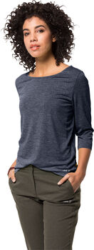 Jack Wolfskin  JWP 3/4 T-Shirt Damen blau