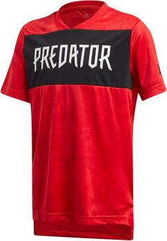 adidas Predator Allover Print Fußballtrikot Jungen rot