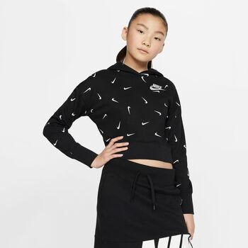 Nike Sportswear Crop Hoodie Mädchen schwarz
