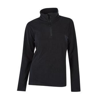 McKINLEY Cortina II Langarmshirt mit Halfzip Damen schwarz