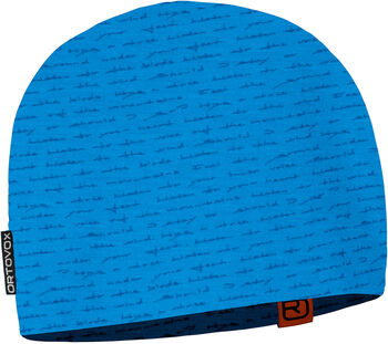 ORTOVOX 120 Tec Print Mütze blau