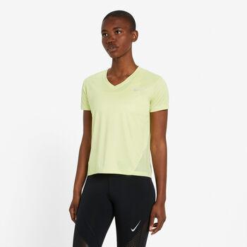 Nike Miler V-Neck T-Shirt Damen grün
