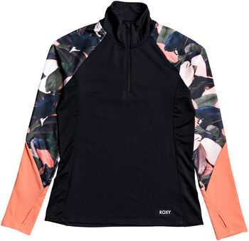 Roxy Lead By The Slopes Langarmshirt mit Halfzip Damen pink