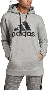 adidas Must Haves Badge of Sport Logo Hoodie Damen grau