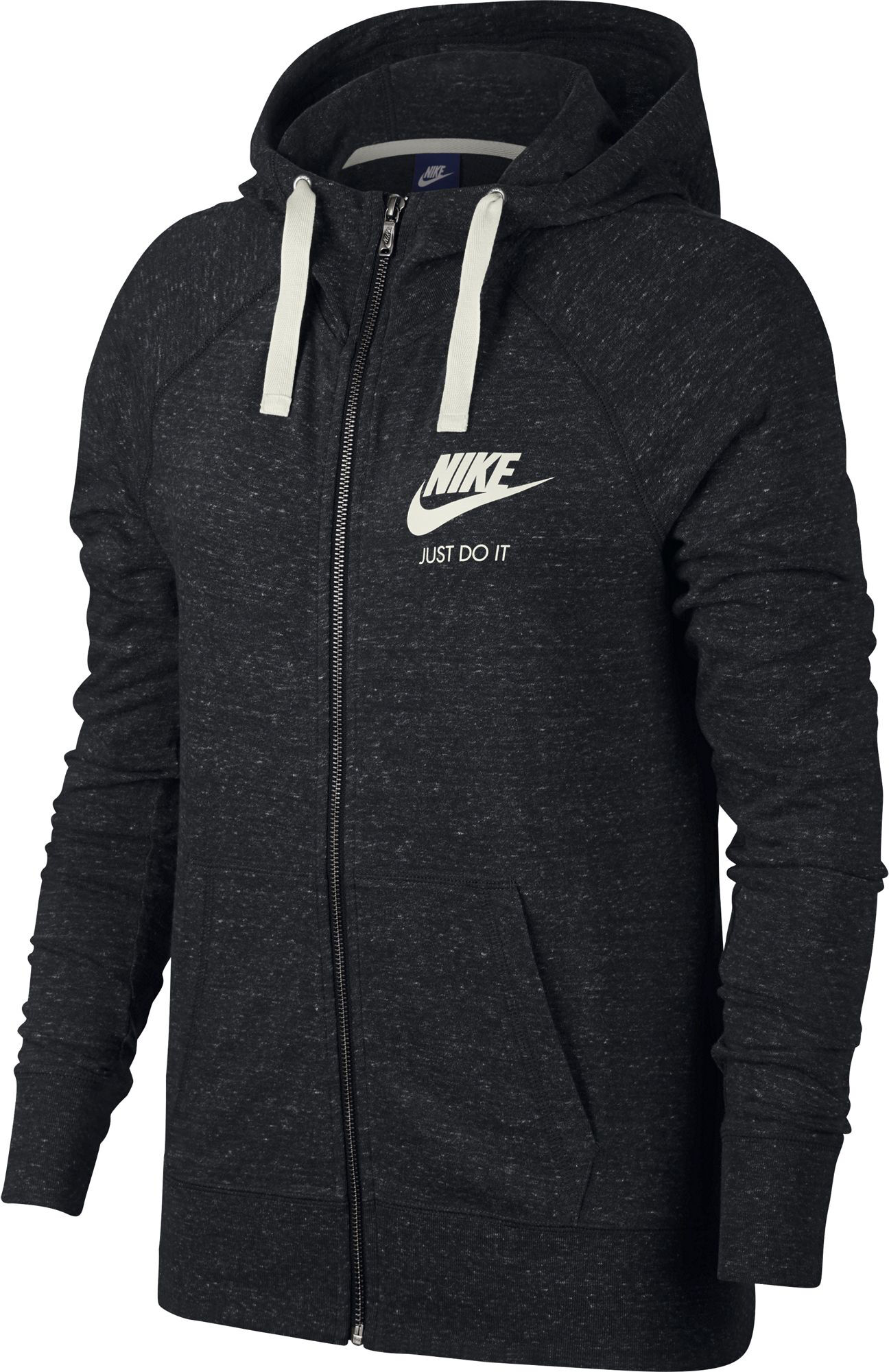 Nike Sportswear Gym Vintage Sweatjacke Damen Schwarz, Weiß