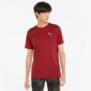 Puma Favourite Heather Lauf-T-Shirt Herren rot