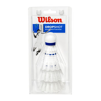 Wilson DROPSHOT 3er Dose Badmintonbälle weiß