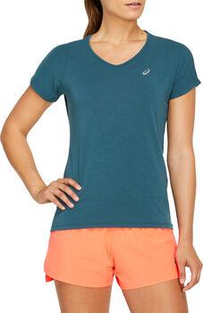 ASICS V-NECK  T-Shirt Damen blau