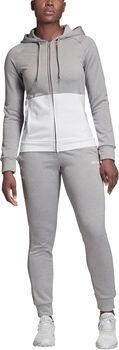adidas Linear Hoodie French Terry Jogginganzug Damen grau