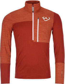 ORTOVOX Fleece Light Langarmshirt  Herren orange