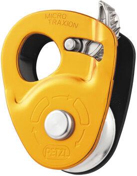 Petzl Micro Traxion Hochleistungsumlenkrolle orange
