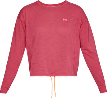 Under Armour Whisperlight Crop Sweater Damen pink