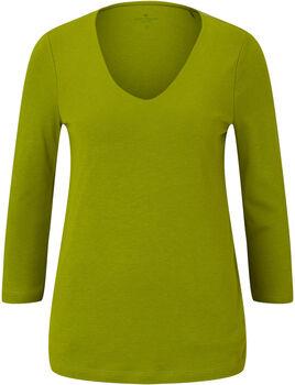 TOM TAILOR Double Front 3/4 T-Shirt Damen grün