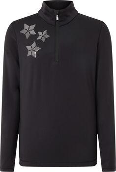 McKINLEY Dariana Langarmshirt mit Halfzip Mädchen schwarz