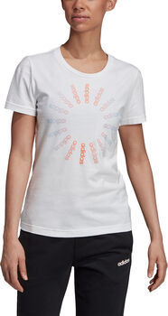 adidas Circled Graphic T-Shirt Damen weiß