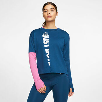 Nike Therma Sphere Icon Clash Langarmshirt Damen blau