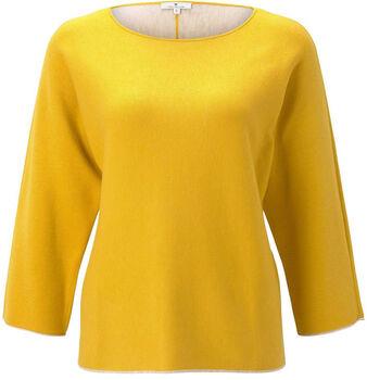 TOM TAILOR  Sweater BatwingDa. Pullover Damen gelb
