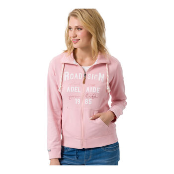 ROADSIGN Sweatjacke Damen pink