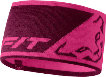 DYNAFIT Leopard Logo Stirnband pink