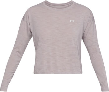Under Armour Whisperlight Crop Sweater Damen grau