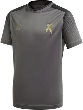 adidas Football Inspired X AEROREADY T-Shirt Jungen grau