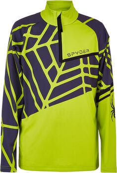 Spyder Limitless Hideout Langarmshirt mit Halfzip grün