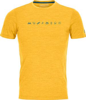 ORTOVOX Cool Tec Icons T-Shirt Herren gelb