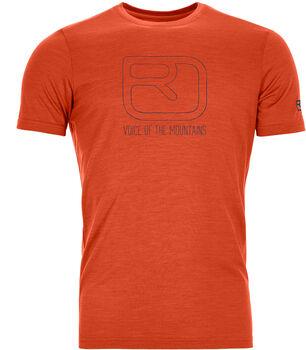 ORTOVOX 120 Tec Logo T-Shirt Herren orange