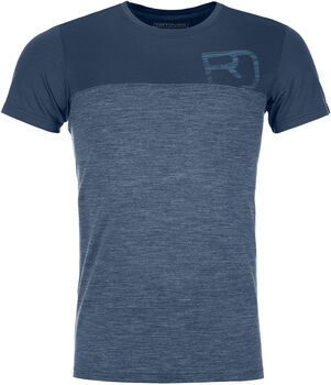 ORTOVOX 150 Cool Logo Ts T-Shirt Herren blau