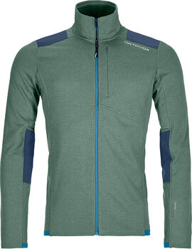 ORTOVOX Fleece Light Grid Fleecejacke Herren grün