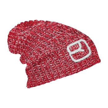 ORTOVOX Melange Mütze rot