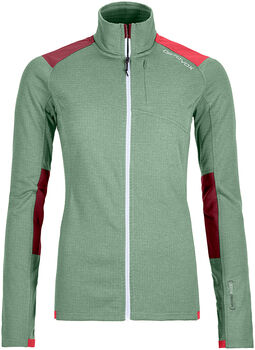 ORTOVOX Fleece Light Grid Fleecejacke Damen grün