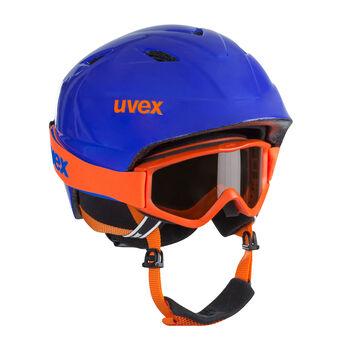 Uvex Airwing 2 Pro Set Skihelm & Brille blau