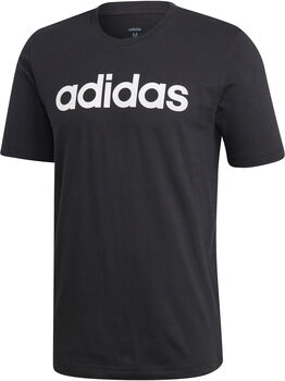 adidas Essentials Linear Logo T-Shirt Herren schwarz