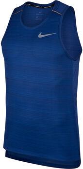 Nike M Nk Dry Miler Tank Lauftank Herren blau