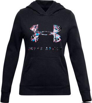 Under Armour Rival Logo-Print Hoodie Mädchen schwarz