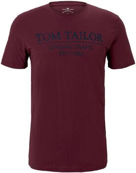 TOM TAILOR With Print T-Shirt Herren rot