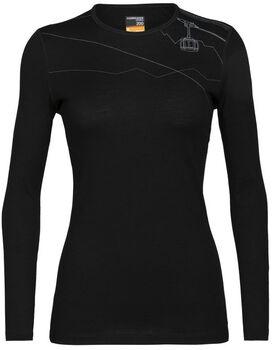 Icebreaker Oais LS Crewe Langarmshirt Damen schwarz