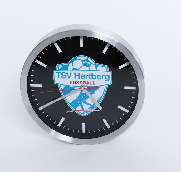 TSV Hartberg Wanduhr mit Alu-Rahmen