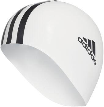 ADIDAS 3-Streifen Badehaube weiß