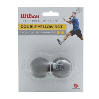 Wilson STAFF Squash Ball 2er Blister gelb