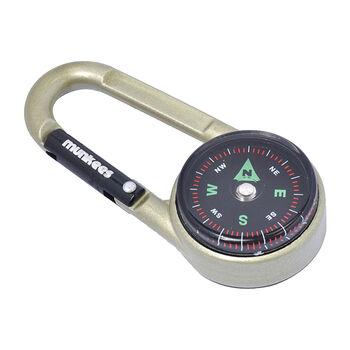 munkees Kompass & Thermometer Karabiner grau