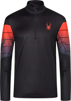 Spyder Webstrong T-Neck Langarmshirt mit Halfzip Herren schwarz