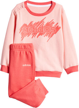 ADIDAS Linear French Terry Jogginganzug Mädchen pink
