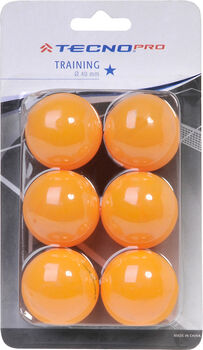 TECNOPRO 1* Tischtennisbälle 6er Pack orange